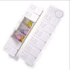 7 Day Weekly Long Box Medicine Tablet Case Container Storage Holder LK