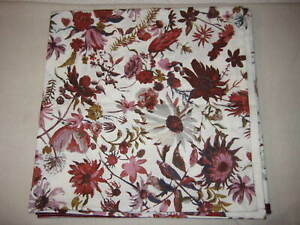 Threshold Creeping Floral Fabric Shower Curtain Burgundy/Pink/White