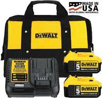 DEWALT 20V Max 5.0Ah Starter Kit with 2 Batteries, Charger and Bag DCB205-2CK
