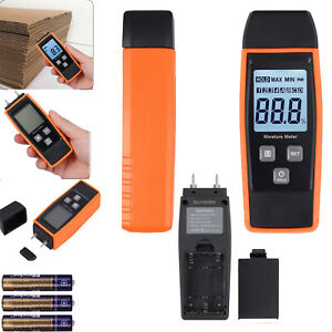 Digital Wood Moisture Meter Portable with LCD for Detecting Firewood Leaks Damp