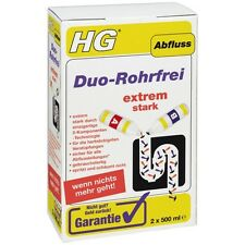 HG Duo-Rohrfrei extrem stark 2x 500ml (9,75€/Liter) Abflussreiniger Abflussfrei