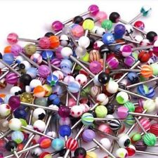 60 PCS Mixed Color Tongue Ring Piercing Jewellery Tounge Different Barbell Bar