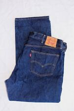 Levi's 501 Button Fly Dark Wash Jeans Mens sz 44x30