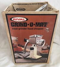 Vintage RIVAL 303 Grind-O-Mat Meat Grinder Food Chopper Vac-O-Matic Harvest Gold