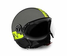 Casco MOMO Design Fighter Fluo Grigio Giallo Grey Yellow Tg L
