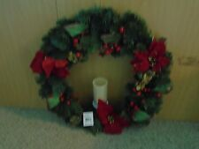 Christmas Wreath With Light Battery Operated 25 In