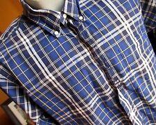 16-33 Chaps Ralph Lauren Men's Blue/Black Plaid Long Sleeve Oxford Shirt LARGE
