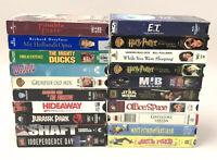 VHS Tape Lot Men In Black Mighty Ducks Harry Potter Grumpier Old Men 20 Total