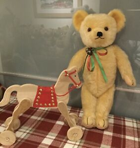 Antique Vintage 1930's Merrythought Teddy Bear With Label