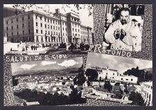 FOGGIA SAN GIOVANNI ROTONDO 13 SALUTI da... PADRE PIO Cartolina FOTOG viagg 1958