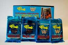 WWF Wrestling Card 2 Packs by Classic 1989 Trading Cards with Factory sealed