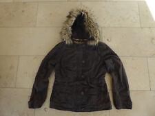 Winterjacke Jacke Kapuzenjacke Teddy braun QS S. Oliver Gr. M / 38 / 40