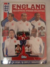 TOPPS 2012 England Team Euro 12 Sticker Album 100% Complete