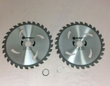 """2 Pack 8"""" 30th Carbide Tipped Brush Cutter Blade 200mm 1"""" & 20mm arbor shafts"""