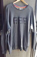 NIKE SPORTSWEAR F.F.F. 3XL SWEATSHIRT GRANITE GRAY with zipper pocket.