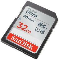 SanDisk 32 GB SDHC SD Speicherkarte Class 10 Ultra für Nikon Coolpix P600 Kamera