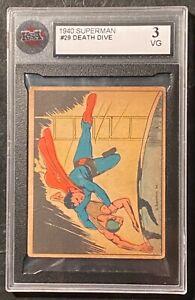 1940 Superman #29 Death Dive KSA 3 VG !  RARE !
