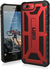 UAG iPhone 8 Plus Case Monarch Slim Rugged Military Drop Tested Cover CRIMSON