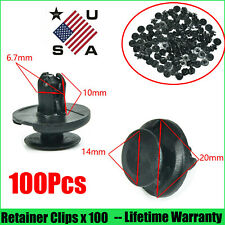 100Pcs Push Clips Fastener Rivets Fender Liner Retainer 7mm Hole Dia For Toyota