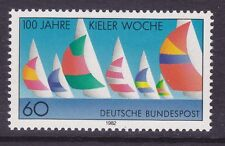 Germany 1374 MNH OG 1982 Kiel Regatta Week Centenary Sail Boats Issue VF