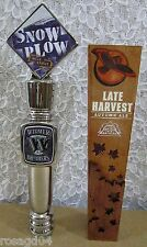 Lot 2 Snow Plow Milk Stout & Late Harvest Autumn Ale Beer Tap Handles Knobs NEW