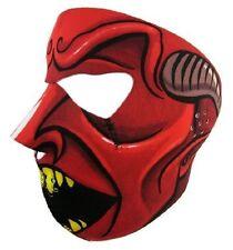 Red Speed Demon Neoprene Full Face Mask Biker Ski Motorcycle Costume Paintball