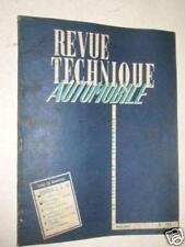 REVUE TECHNIQUE AUTOMOBILE-CITROËN D. S. 19 (1re part)