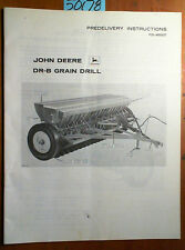 John Deere DR-B Grain Drill Predelivery Instructions Manual PDI-M60627 C9 3/69