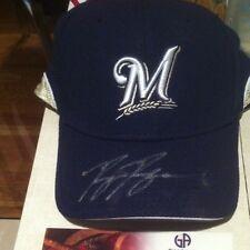 Ryan Braun Auto Signed New Era Baseball Cap GA Authenticated