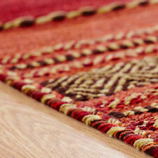 Oriental Weavers Kelim Rug Runner Cushion Hand Woven Cotton & Chenille Red 160 X 230 Cm