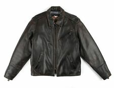 HARLEY DAVIDSON Brown Classic Genuine Leather Motorcycle Riding Jacket Size M