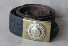 WWI OLD GERMAN BELT & BUCKLE / PRUSSIAN INFANTRY BUCKLE