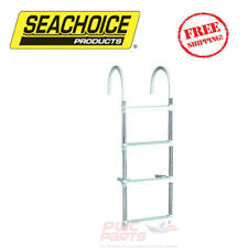 New Seachoice Marine Boat 4 Step Aluminum Folding Boarding Ladder SCP 71560