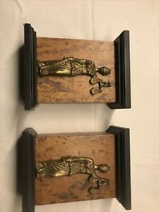 Premium Lady Justice Wood And Brass Lawyer Bookends - Good Weight