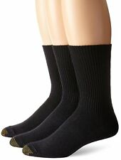 Gold Toe Men's Fluffies Casual Sock, Assorted Colors, 3 Pairs