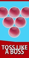 Beer Pong Red Solo Cup  Cornhole Board Game Decal Wraps