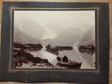 c1885 Hardanger Bondhusbreen med Bondhusvatnet Axel Lindahl Albumen Photo Norway