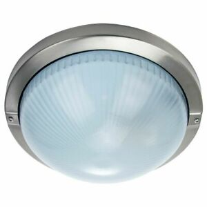 Contemporary Stainless Steel IP44 Bathroom or Outdoor Ceiling/Wall Light Fitt...