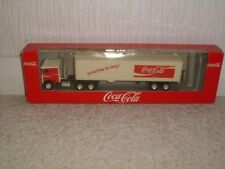 COCA COLA SAMMEL TRUCK AND TRAILER ALBEDO NEW BOXED YOU CAN'T BEAT THE FEELING