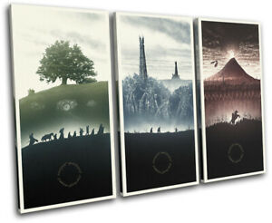 Lord of the Rings Movie Greats TREBLE CANVAS WALL ART Picture Print