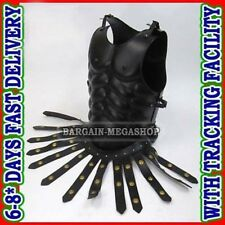 Black Greek Royal Muscle Armor Cuirass with Leather Belt Costume-Christmas Gift