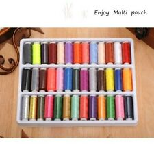 24-39 Assorted Colour Polyester Strong Sewing Thread Spool Set For Stitching Art
