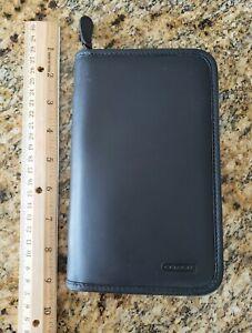 Vintage COACH Zippered PDA Portfolio Wallet Case Black