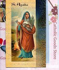 Saint St. Agatha - Biography, prayer, Feast Day, etc... Folder Card