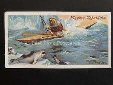 No.11 ESKIMO HUNTING SEAL IN KAYAK Polar Exploration Series A - John Player 1915