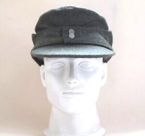 WWII German WH Elite EM M43 Panzer Wool Field Cap Hat Green 57cm