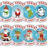 Personalised Christmas Stickers From Father Christmas Santa Present Labels Elf