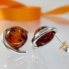 A284 Ohrringe Earrings baltischer Bernstein Amber 925 Sterling Silber Schmuck
