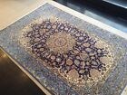 Nain Vintage Hand Tied in Wool And Silk Blend 6'x4  Carpet