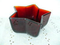 """Vintage ruby red Star Bowl 3"""" tall & 6"""" in diameter"""